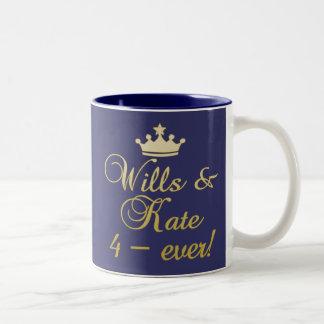 Wills & Kate 4-Ever T-shirts, Mugs, Gifts Two-Tone Coffee Mug