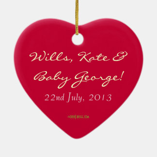 Wills, Kate and Baby George Commemorative Ornament
