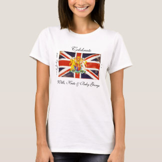Wills Kate and Baby George Commemorative T-Shirt