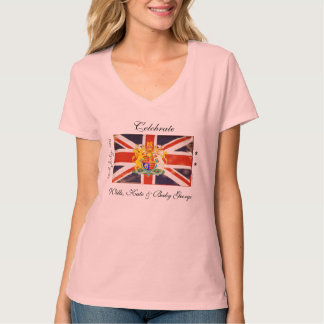 Wills, Kate and Baby George Commemorative T-Shirt