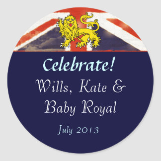 Wills Kate and Baby Royal Celebration Stickers