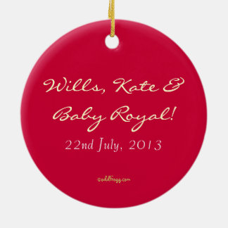 Wills, Kate and Royal Baby Commemorative Ornament