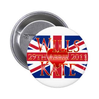 Wills Kate Pinback Button