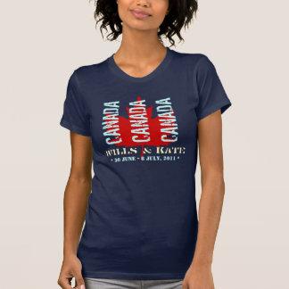 Wills & Kate CANADA Tour T-Shirt (Dark)