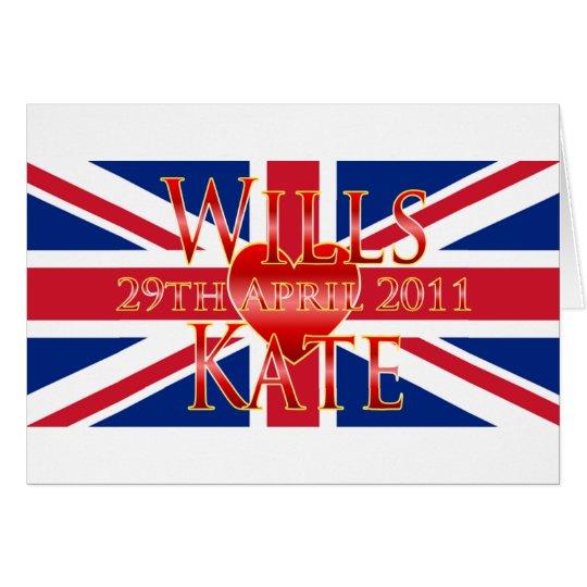 Wills & Kate Card