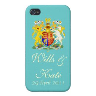Wills & Kate Commemorative iPhone (Aqua) iPhone 4/4S Cases