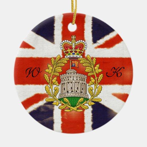Wills & Kate Monogram Coat of Arms Ornament