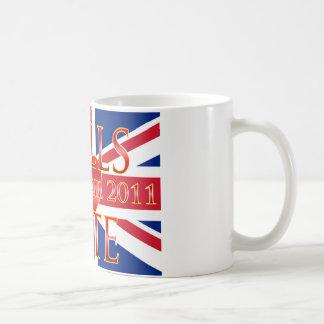 Wills & Kate Classic White Coffee Mug
