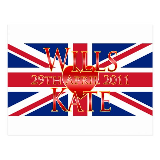 Wills & Kate Post Card