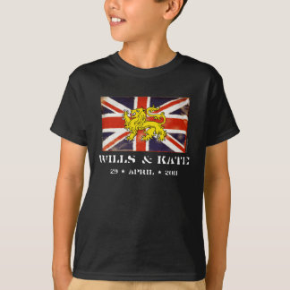 Wills & Kate Royal Wedding Kid's Dark T-Shirt