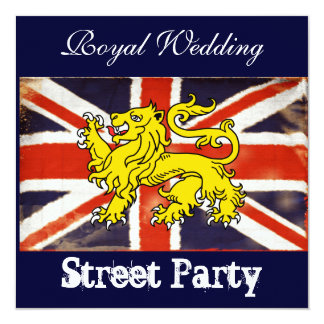 Wills & Kate Royal Wedding Street Party Invitation