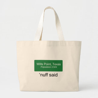 Wills Point 'Nuff Said Tote Bags