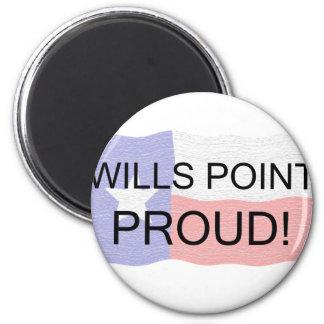 Wills Point Proud 2 Inch Round Magnet