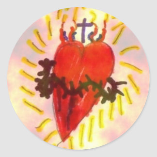 Will's Sacred Heart Image Classic Round Sticker