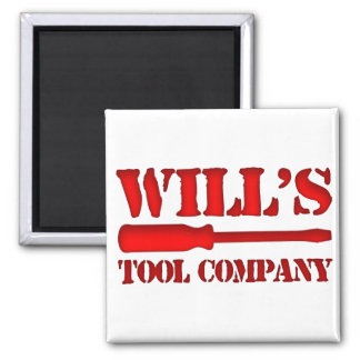 Will's Tool Company 2 Inch Square Magnet
