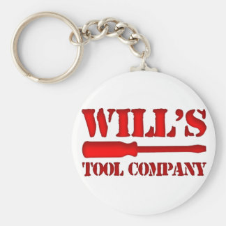 Will's Tool Company Basic Round Button Keychain