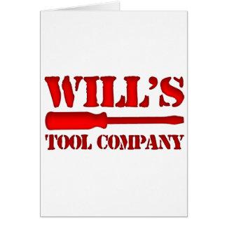 Will's Tool Company Card