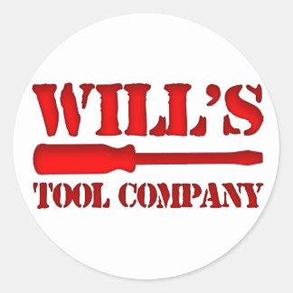 Will's Tool Company Classic Round Sticker