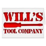 Will's Tool Company Greeting Card