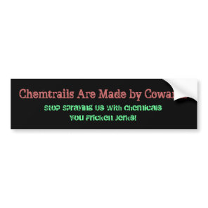 willtrade4food bumper sticker chemtrails