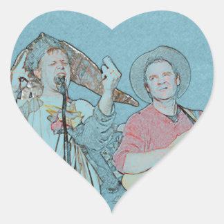 Willy and Rand--Wild's Skit Heart Sticker