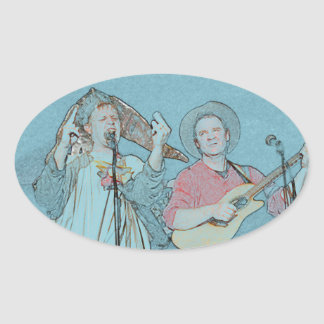 Willy and Rand--Wild's Skit Oval Sticker