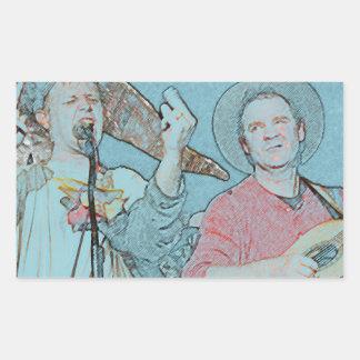 Willy and Rand--Wild's Skit Rectangular Sticker