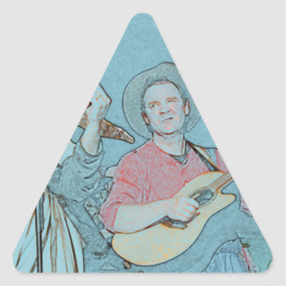 Willy and Rand--Wild's Skit Triangle Sticker