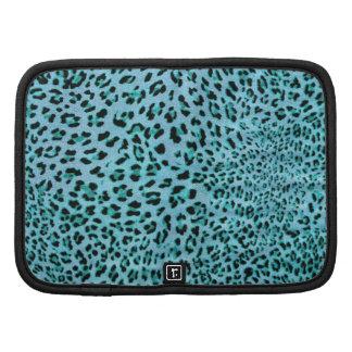 Willy frío. Impresión azul del leopardo del choque Organizador
