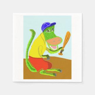 Willy juega a softball servilleta desechable