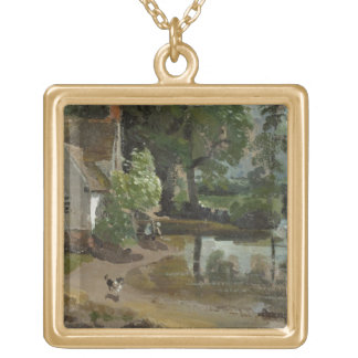 Willy Lott's House, near Flatford Mill, c.1811 (oi Gold Plated Necklace