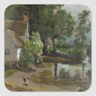 Willy Lott's House, near Flatford Mill, c.1811 (oi Square Sticker