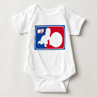Willy Pat NBA style logo Baby Bodysuit