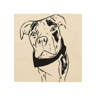 Willy the Pittie Wood Print