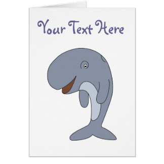 Willy the Whale Cartoon Animal Greeting Card