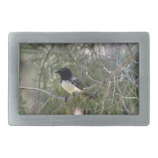 WILLY WAGTAIL RURAL QUEENSLAND AUSTRALIA RECTANGULAR BELT BUCKLE