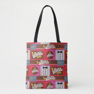 Willy Wonka Candy Pattern Tote Bag
