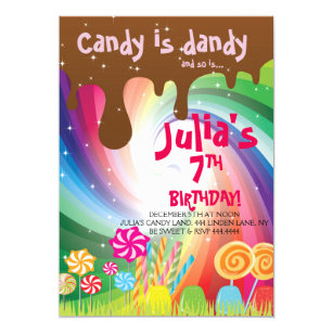 Candyland Party Invitations Zazzle