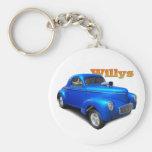 Willys Basic Round Button Keychain