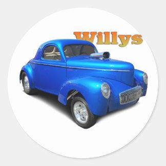 Willys Classic Round Sticker