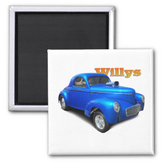 Willys 2 Inch Square Magnet