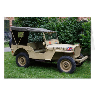 Willys MB Jeep Card