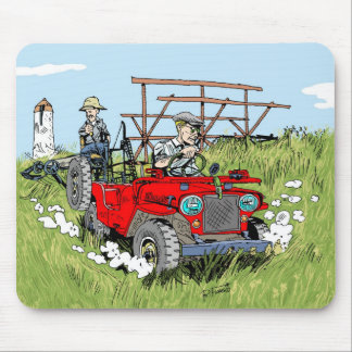 Willys rug jeep CJ2A Mouse Pad
