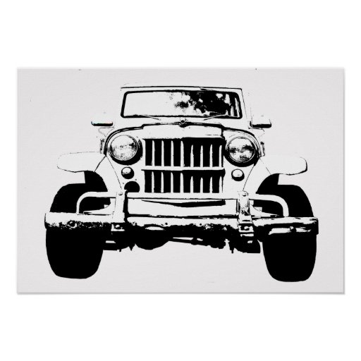 Willys wagon poster