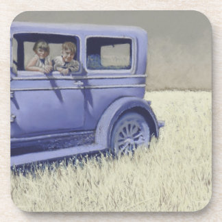 willys whippet beverage coaster