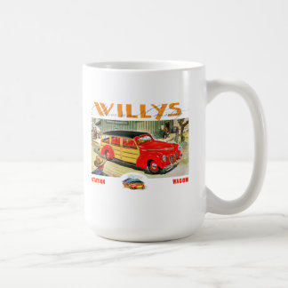 willys woody wagon coffee mug