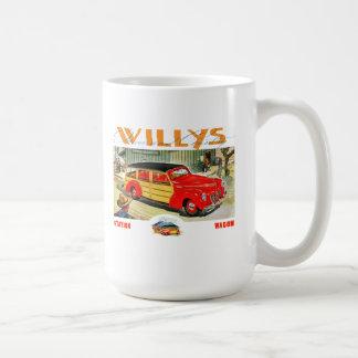 willys woody wagon coffee mug