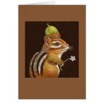 Wilma the chipmunk card