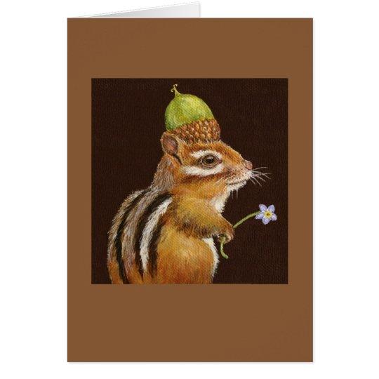 Wilma the chipmunk card