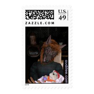 Wilma Werewolf Handmade Doll Stamp audilee.com